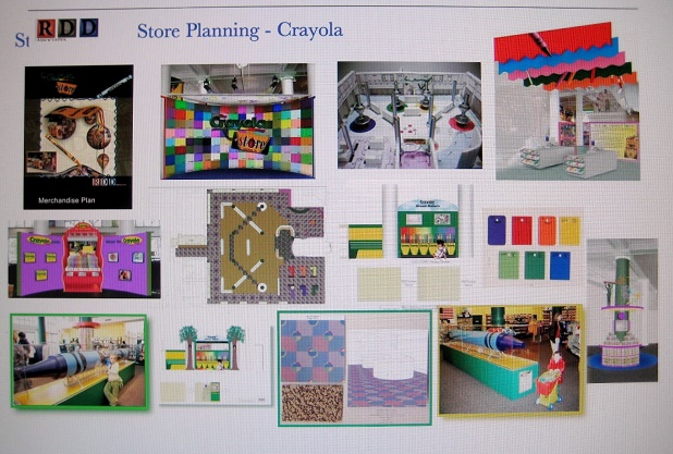 easton PA, crayola, crayola license dept, brand license dep, brand store, vendor display, concept shop, global shop