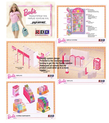 New York, NY, Barbie Matel, License Display, vendor, display, fab accessories, stationary display